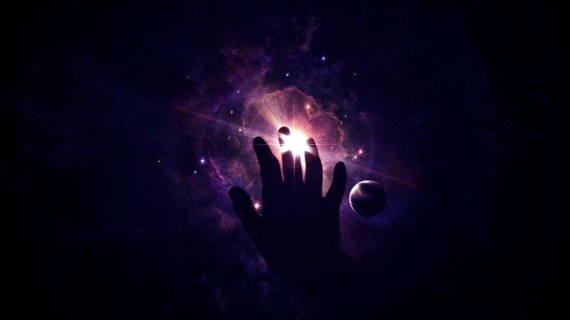 Картинки по запросу рука на фоне космоса